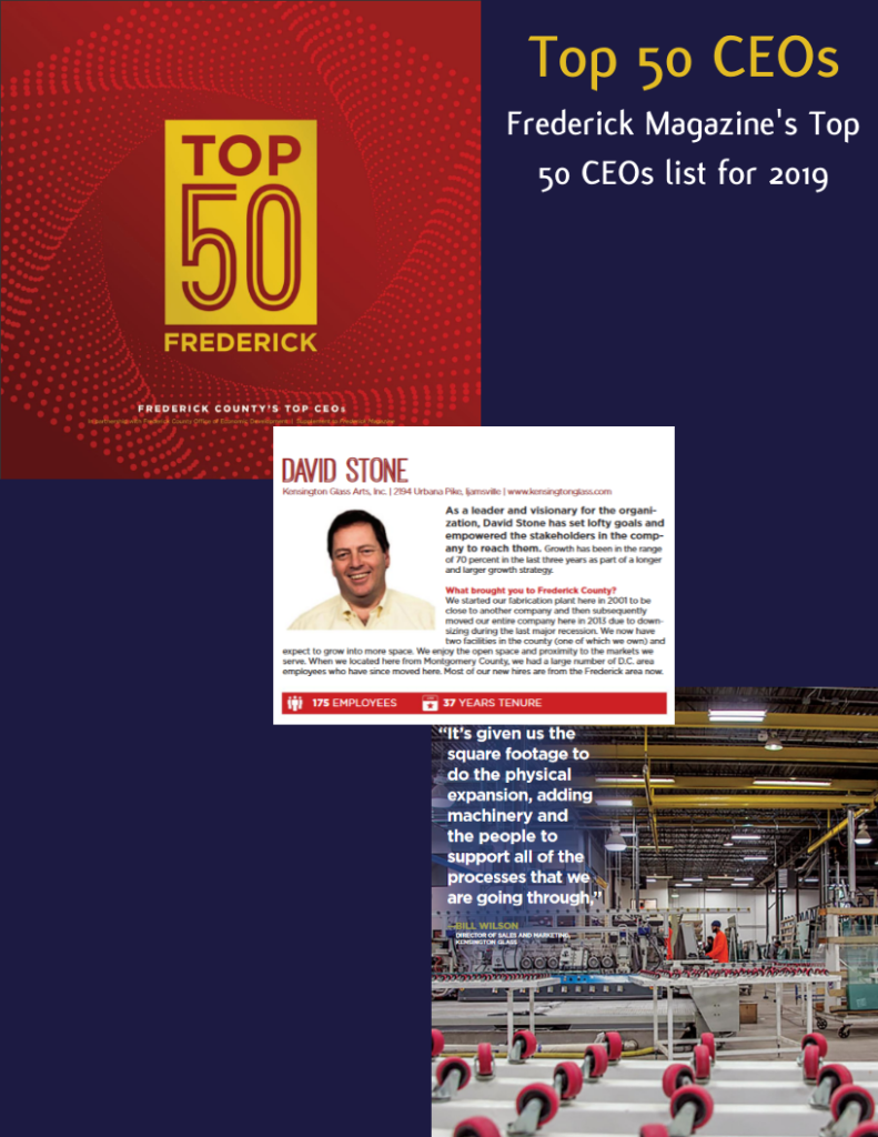 David Stone Named to Top 50 CEOs of Frederick List by Frederick Magazine