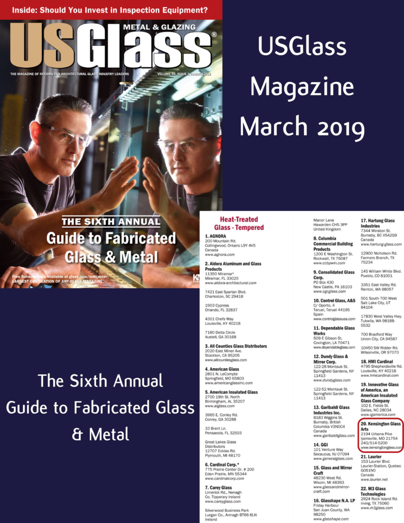 USGlass Magazine's 6th Annual Guide to Fabricated Glass & Metal