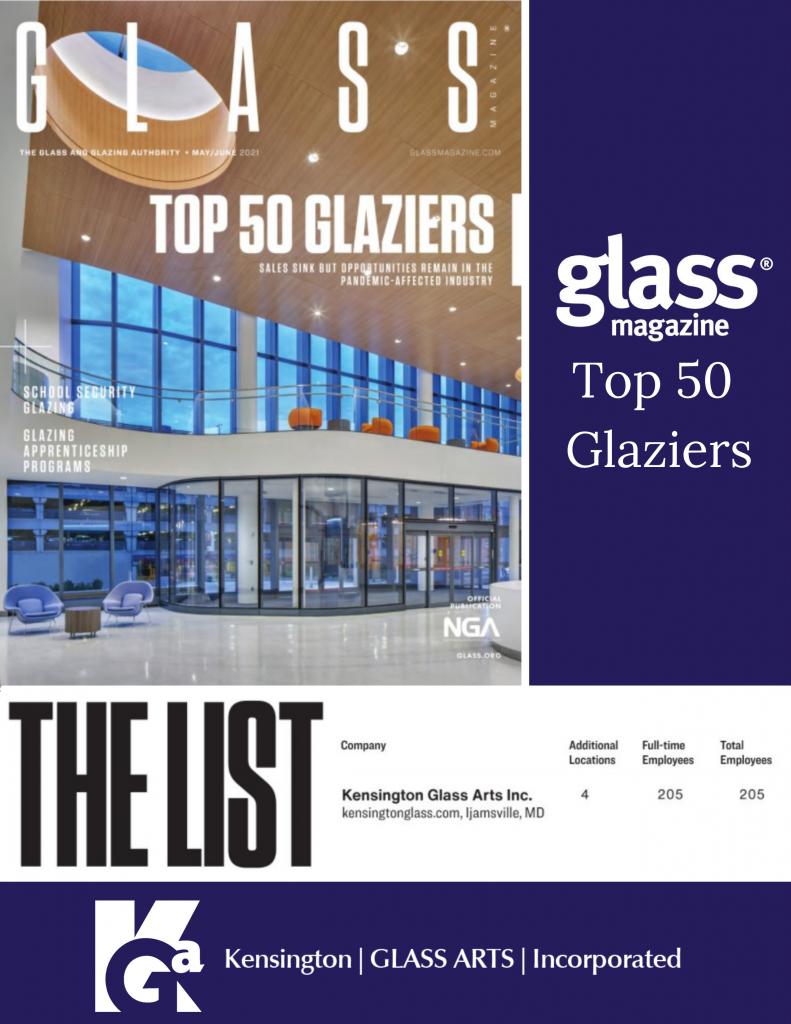 Glass Magazine Top 50 Glazier Kensington Glass Arts 2020