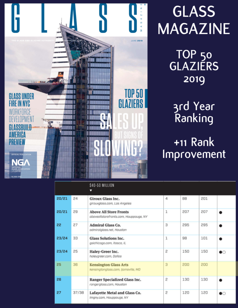 Top 50 Contract Glaziers | Glass Magazine 2019