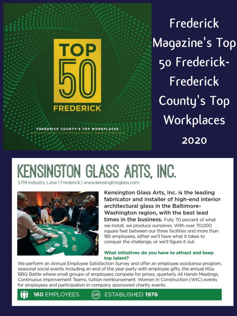 KGa Named to the Top 50 Places to Work in Frederick County