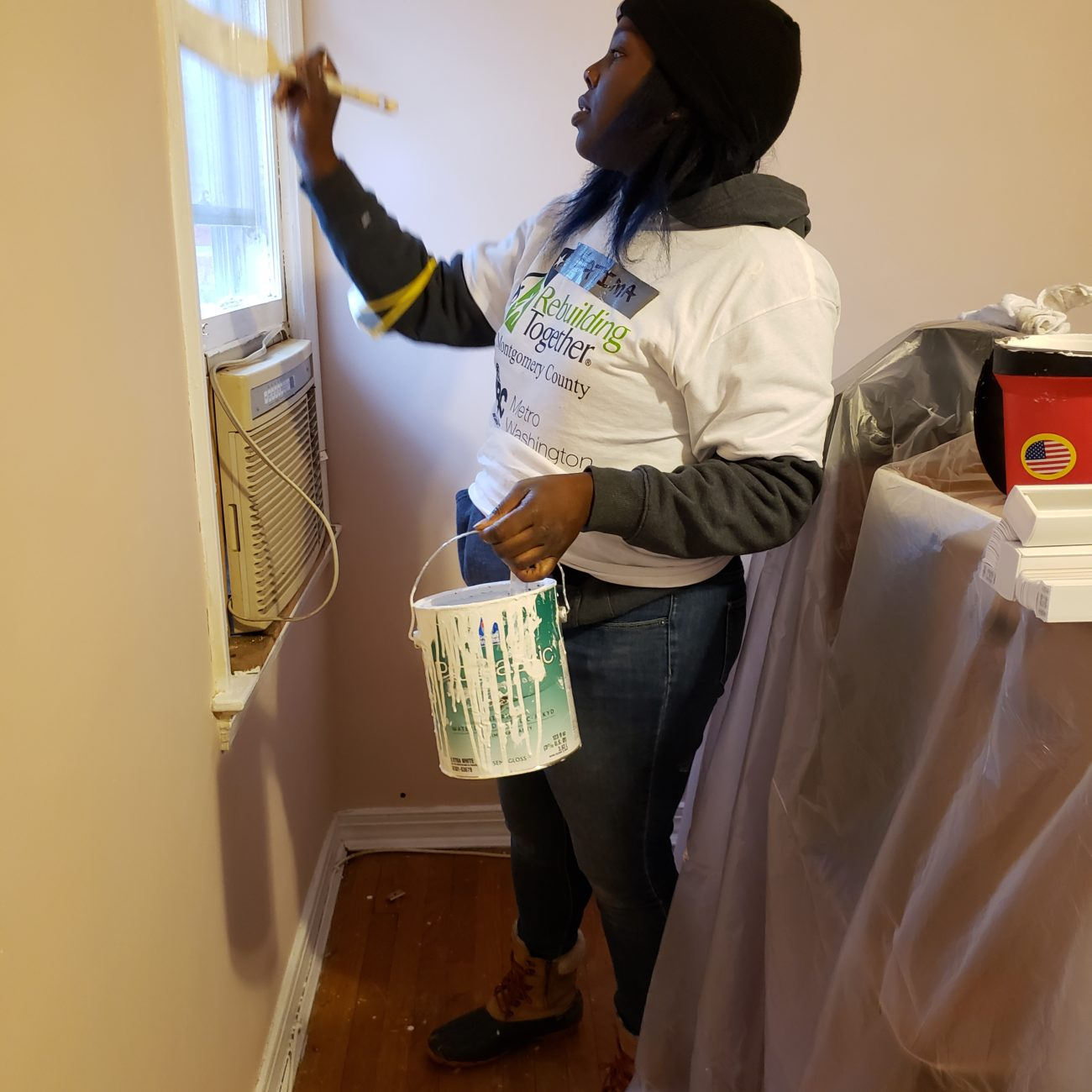 Fatima Campbel, KGa APM Painting During SheBuilds Event