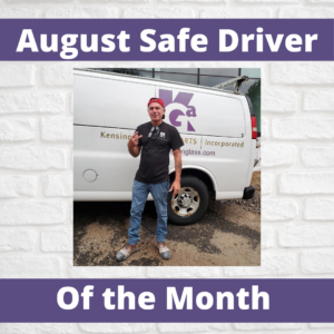 August Safe Driver of the Month