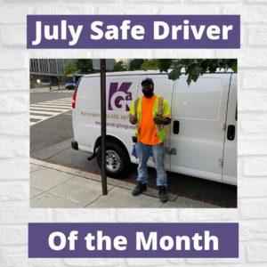 KGa's Safe Driver of the months of June and July, 2020. Tyrone Thompson
