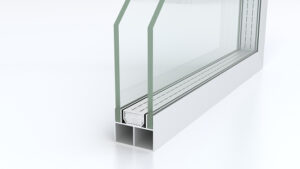 aluminum profile and insulated glass(3D rendering)