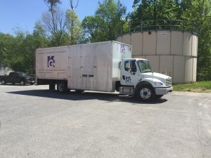 An image of one of KGa's DOT/CDL vehicles, which Nikki Watkins monitors