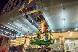 image of glaziers working on a lift