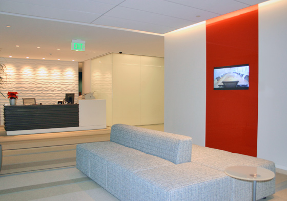 Back-pained glass with clear monitor box, Shell Oil, Washington DC, Classic Glass Inc